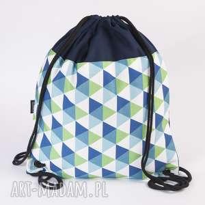 trójkąty worek, torba, plecak, ekoskóra