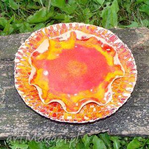 ręczne wykonanie ceramika mała patera
