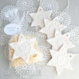 handmade prezenty świąteczne gwiazdka - zawieszka