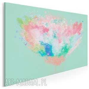 Obraz na płótnie - ARTYSTYCZNE DRZEWO TURKUSOWY 120x80 cm (54003), abstrakcja