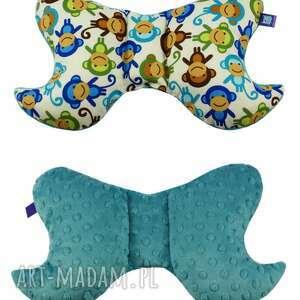 dla dziecka poduszka motylek, wzór małpki, poduszka, poducha, małpki