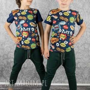 spodnie baggy butelkowa zieleń, spodnie, baggy, dziecięce, bawełna, kieszenie