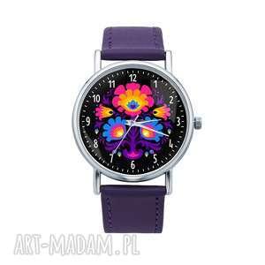 zegarek z grafiką folklor, folk, etniczny, prezent, ludowy, ludowe, łowicz