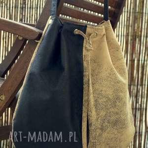 ręcznie zrobione na ramię torba - worek