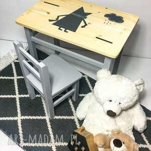 WNETRZE Z GUSTEM: meble dziecięce stolik i krzesełko lisek grafit - pokój dziecka, do pokoju