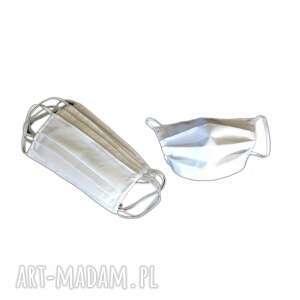 białe maseczki ochronne bawełniane 5szt, maska ochronna, maseczka ochronna