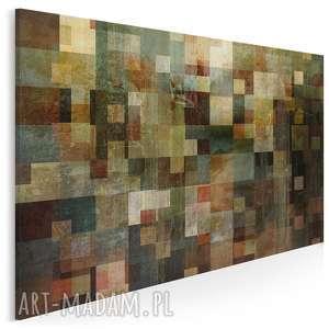 Obraz na płótnie - ABSTRAKCJA KWADRATY 120x80 cm (13001), kwadraty, nowoczesny
