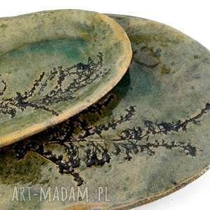 handmade ceramika ceramiczne półmiski - natura