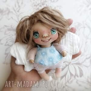 hand-made dekoracje aniołek wróbelek - zawieszka figurka tekstylna ręcznie szyta