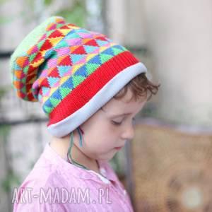 czapka dziecięca kolorowa peruwianki dla 5-11 latka a1 - dziecko, etno, boho