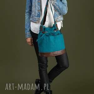 Yocca - torba worek turkus na ramię incat prezent, worek, modna
