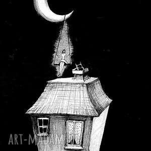 adriana laube art rysunek piórkiem huśtawka artystki plastyka adriany laube