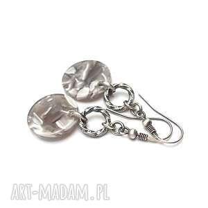 Marble - kolczyki katia i krokodyl srebro, oksydowane, koła