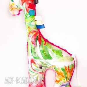 żyrafa flamingi fuksja, żyrafa, maskotka, przytulanka, dziecko