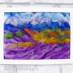 lawendowe pola obraz z kolekcji die wunderschöne natur - rękodzieło