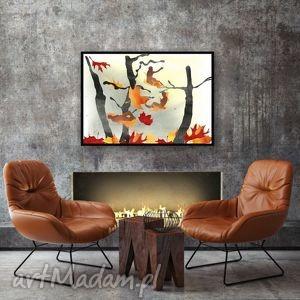 Melancholia... ilustracja A4, ilustracja, natura, 20x30, a4, drzewa, liście