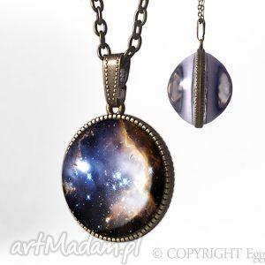 kulisty dwustronny medalion nebula - 0928spb egginegg - naszyjnik kulka