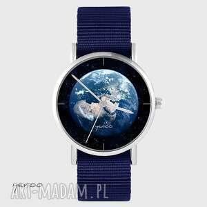 zegarek yenoo - ziemia granatowy, nato, zegarek, pasek, ziemia, kosmos