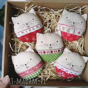 kocie bombki - ,kocie,bombki,zawieszki,kot,ozdoby,świąteczne,