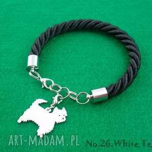 Prezent Bransoletka white terrier pies nr.26, bransoletka, pies, prezent, rękodzieło