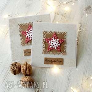 scrapbooking kartki komplet 2 kartek na boże narodzenie, kartka, xmas, święta