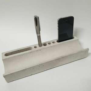 betonowy organizer na biurko - order, organizer, nowoczesny