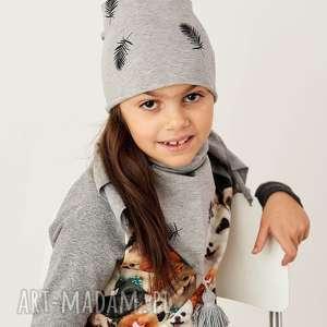 czapka beanie LIŚĆ, czapka, beanie, dziecko, bawełna, liście, print