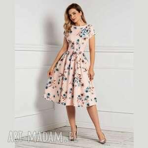 sukienka marie midi honorata, midi, rozkloszowana