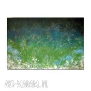 tierra verde, abstrakcja, nowoczesny obraz ręcznie malowany