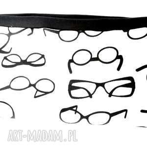 szeroka sportowa opaska w okulary dzianina bawełna, opaska, bieganie