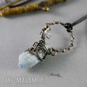 naszyjniki blair - naszyjnik z kwarcem tytanowym, naszyjnik, wisior, miedź, kryształ