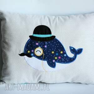 Poduszka z wielorybem, poduszka, wieloryb, retro, dekoracja, dziecko, tata