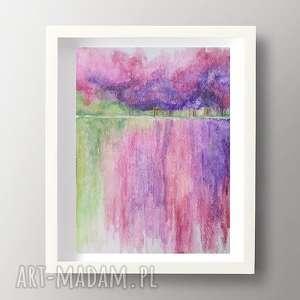 paulina lebida pejzaż-abstrakcja,akwarela formatu 12,5/18 cm, pejzaż, papier