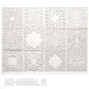 kafle białe, dwanaście ornamentów, kafle, dekory, ornament, marokańskie