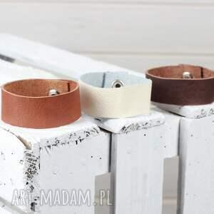 Prezent Zestaw skórzanych bransoletek, bransoletka, biżuteria, skórzana, zestaw