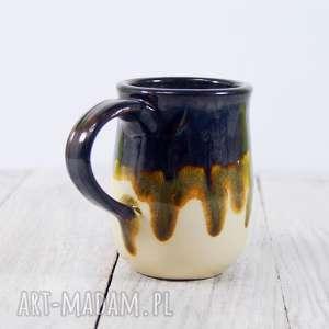 Kubek brązowy zaciekowy, do-pracy, do-herbaty, do-kawy, ceramiczny, kubek