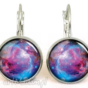 nebula - małe kolczyki wiszące, nebula, kolczyki, kosmos, galaxy, galaktyka