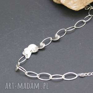 bransoletka srebrna serca, bransoletka, srebrna, duże, kółka, piękna