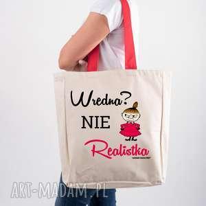Licencjonowana torba xxl muminki z czerwonym uchem wredna nie