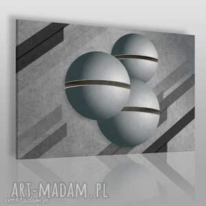 obraz na płótnie - abstrakcja kule 120x80 cm 30101, kule, beton, surowy