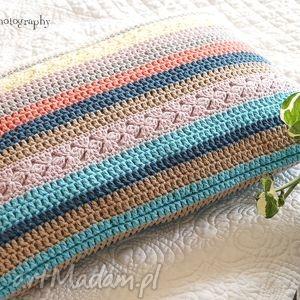 Poduszka multikolor No.1, poduszka, poszewka, bawełna, szydełkowa