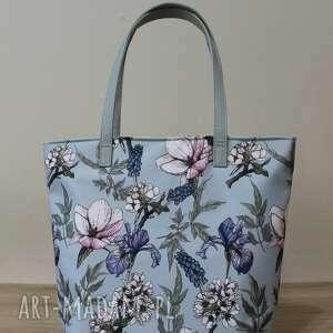 Shopper bag bucket - irysy vintage na ramię torebki niezwykle