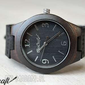 zegarki drewniany damski zegarek ebony silver woman, zegarek, damski