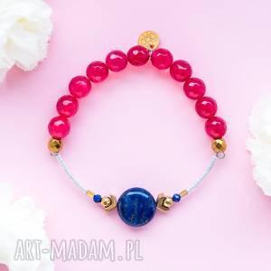 whw high - raspberry lips, dwustronna, kamienna, kamienie, lapis lazuli, jadeit