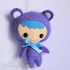 misiowa lala - viola - miś, lala, dziewczynka, filc, zawieszka, dziewczyna