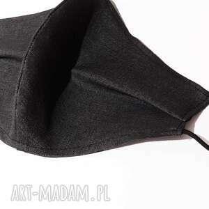 modna jeansowa maska ochronna grafitowa bawełna 10 szt, maseczka