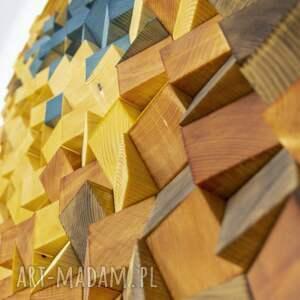 dekoracje mozaika drewniana, obraz drewniany 3d b02, loft, modern, kolor