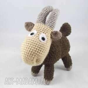 koza meelunia - szydełkowa maskotka, koza, kózka, koziołek, kozica
