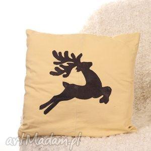 poszewka na poduszkę z jelonkiem, poduszka, poszewka, jelonek, renifer, prezent