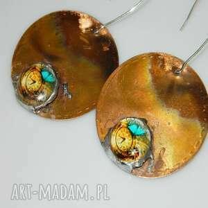 esterka miedziane kolczyki-k34, kolczyki, metaloplastyka, kolczyki
